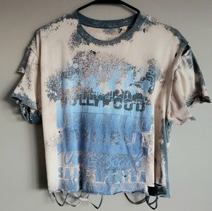 Hurley Beach Cities Destructed Crop Tee